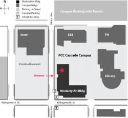 PCC map Moriarty Arts Bldg Cascade ACM SIGGRAPH